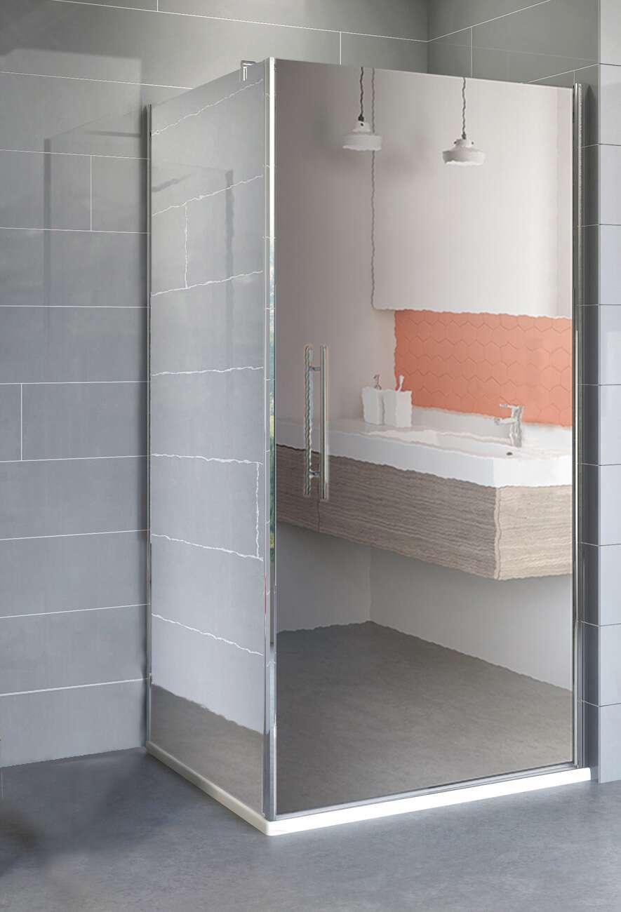 schulte alexa style 2 0 dreht r spiegelglas mit seitenwand. Black Bedroom Furniture Sets. Home Design Ideas