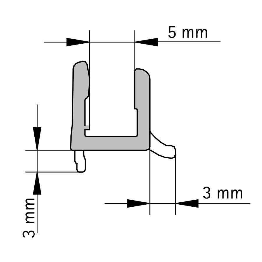dichtlippe 1200 mm f r dusar duschkabinen glass 5 und. Black Bedroom Furniture Sets. Home Design Ideas