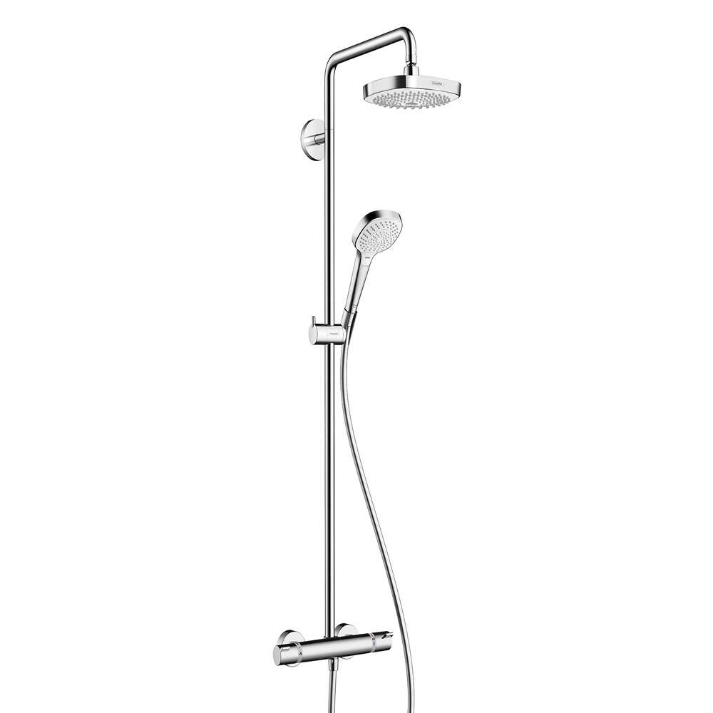 hansgrohe showerpipe croma select e 180 7165357. Black Bedroom Furniture Sets. Home Design Ideas