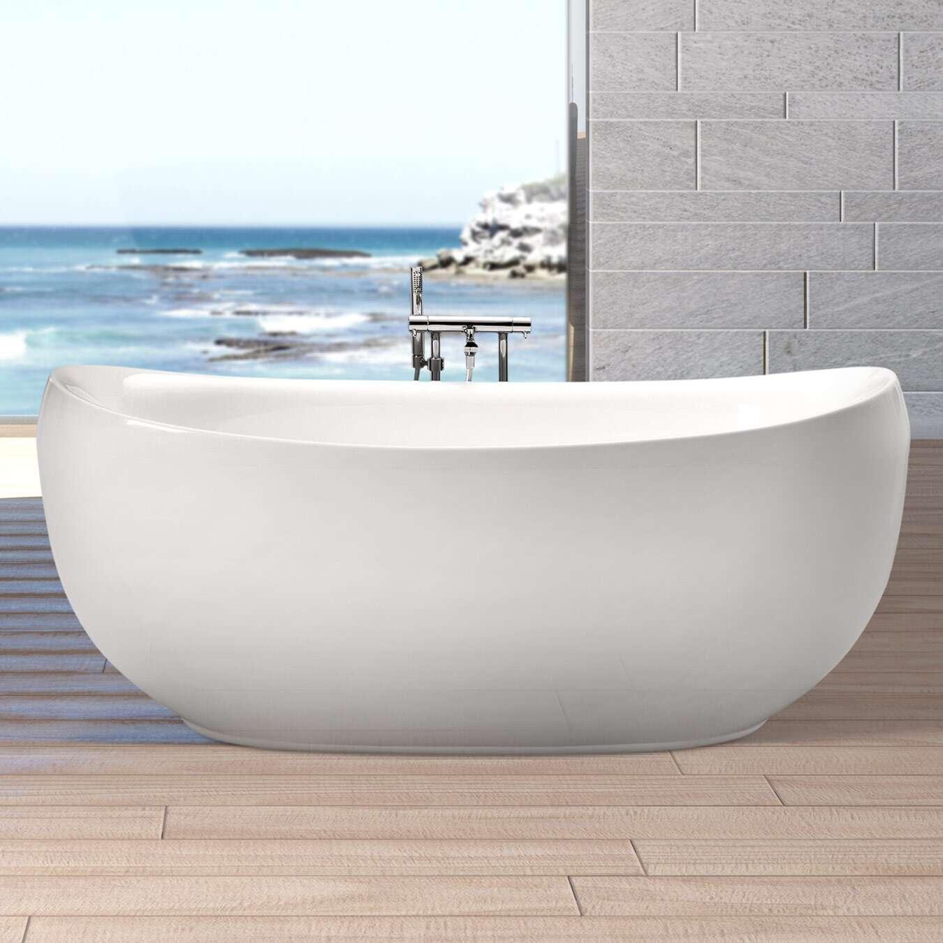 Duschmeister Freistehende Badewanne Lissabon 863801bw Duschmeister De