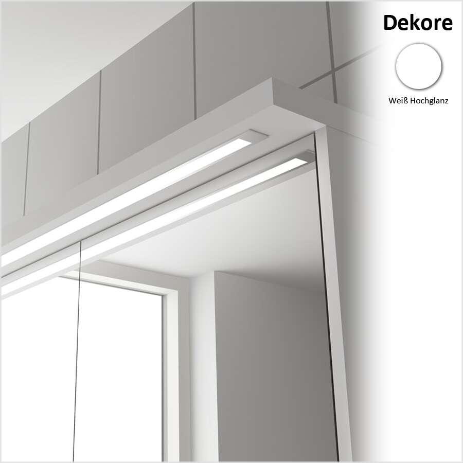 duschmeister skagen spiegelschrank mit led lichtleiste 80 cm spiegelschrank. Black Bedroom Furniture Sets. Home Design Ideas