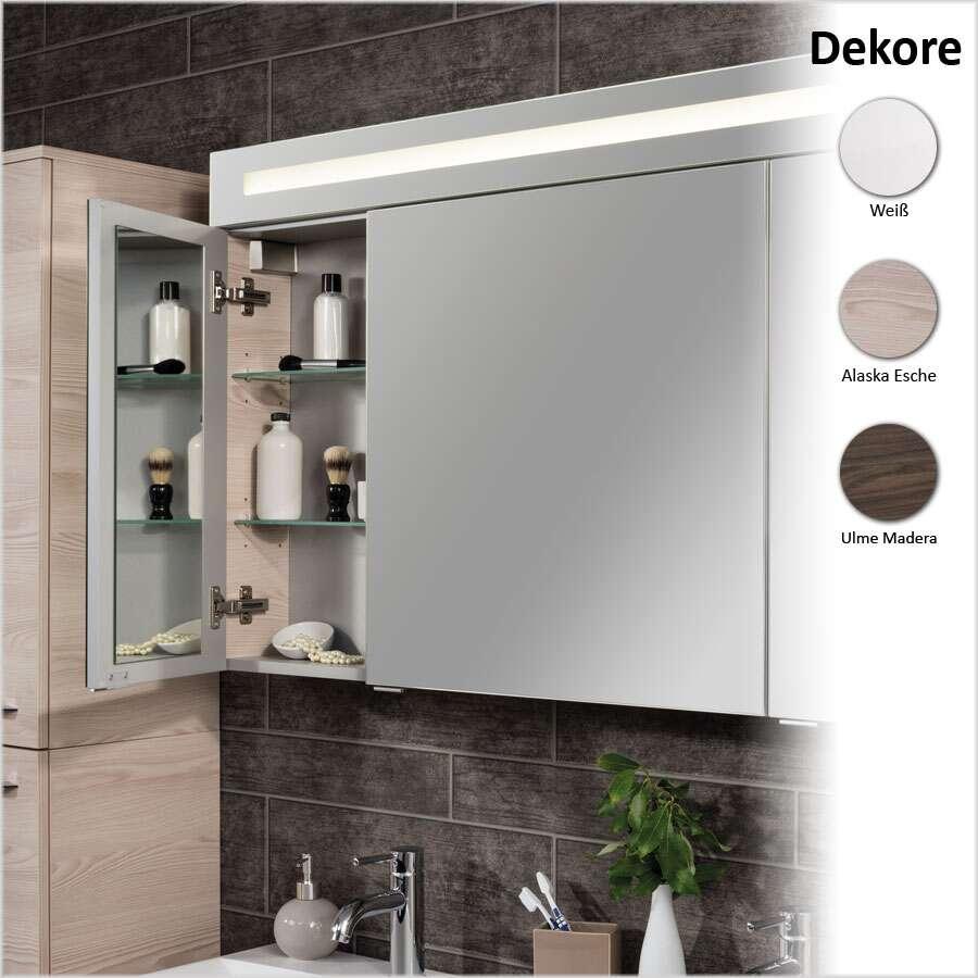 fackelmann spiegelschrank 120 cm mit 3 t ren spiegelschrank. Black Bedroom Furniture Sets. Home Design Ideas
