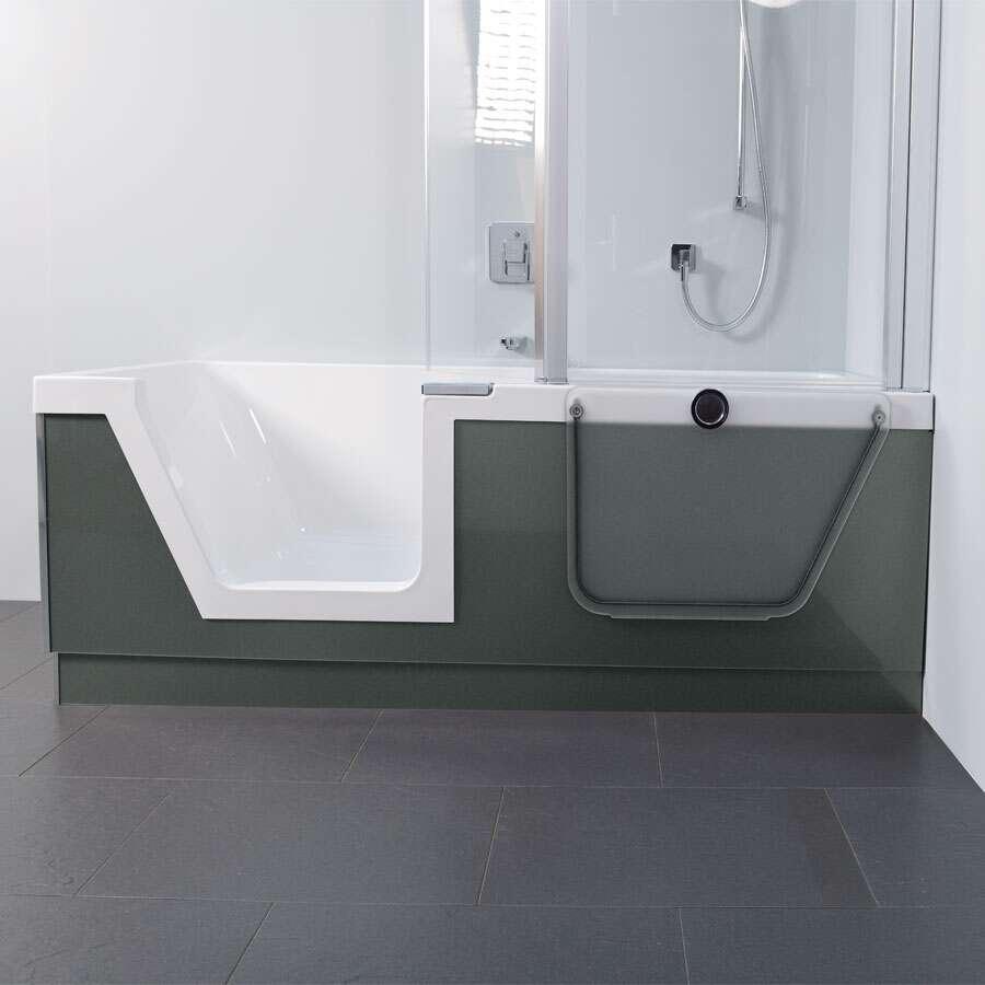 Duscholux Step-In Pure Badewanne mit Türeinsatz links