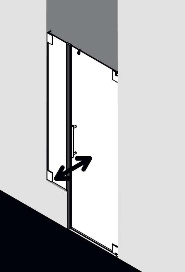 kermi pasa pendelt r 1 flg mit verk rztem festfeld f r nische. Black Bedroom Furniture Sets. Home Design Ideas