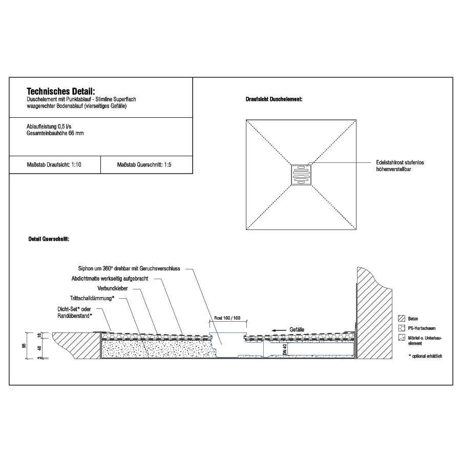 duschmeister duschelement slimline halbkreis befliesbar. Black Bedroom Furniture Sets. Home Design Ideas