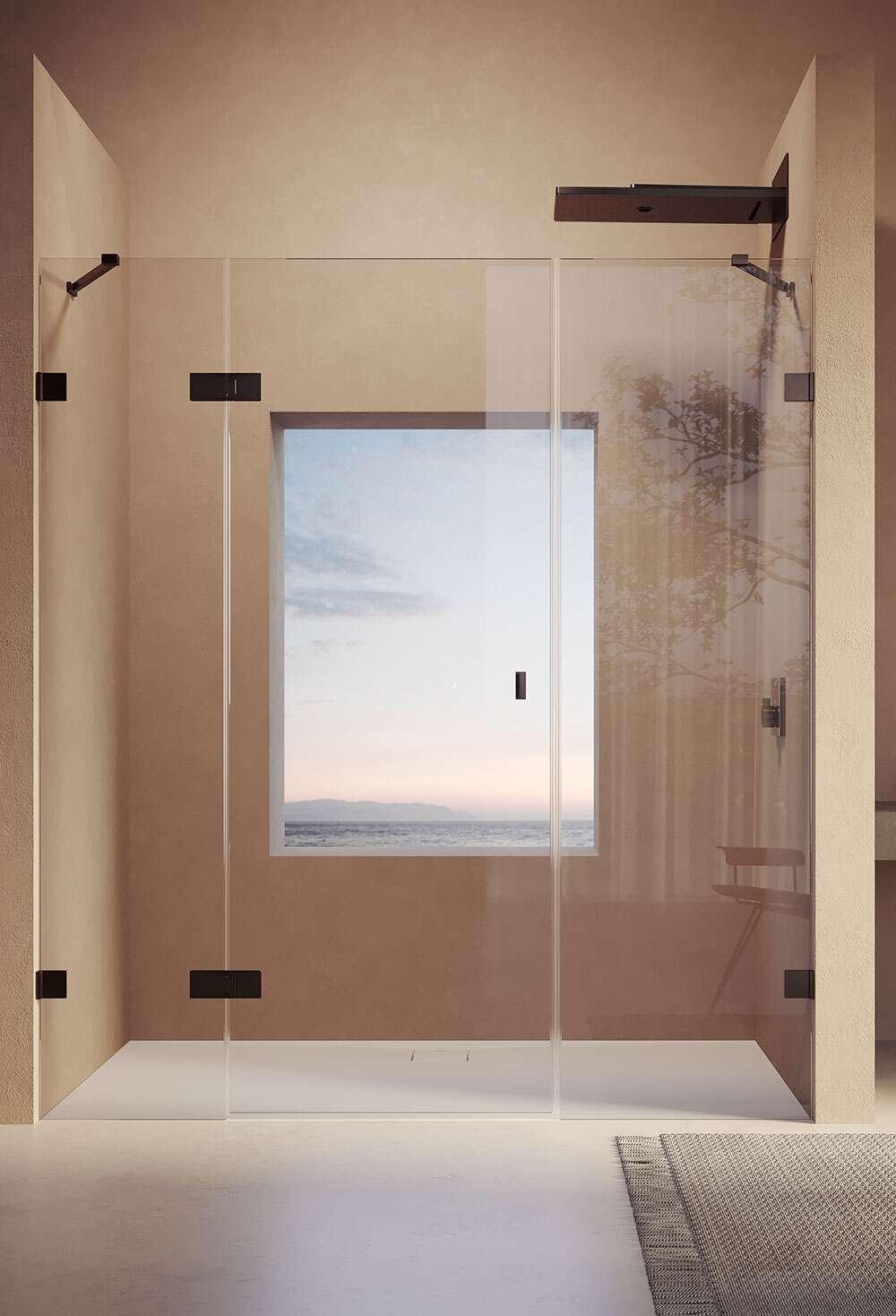 h ppe solva rahmenlos schwingt r mit segment u nebenteil in nische. Black Bedroom Furniture Sets. Home Design Ideas