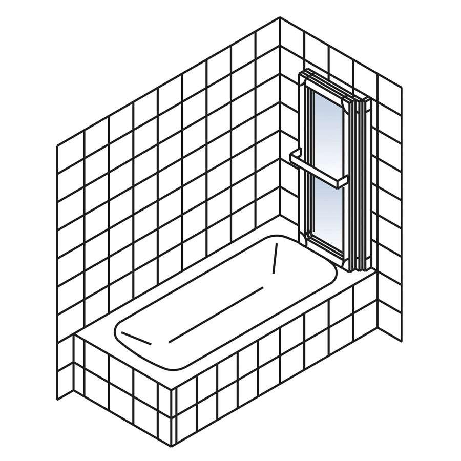 schulte komfort i badewannenaufsatz 3 teilig. Black Bedroom Furniture Sets. Home Design Ideas
