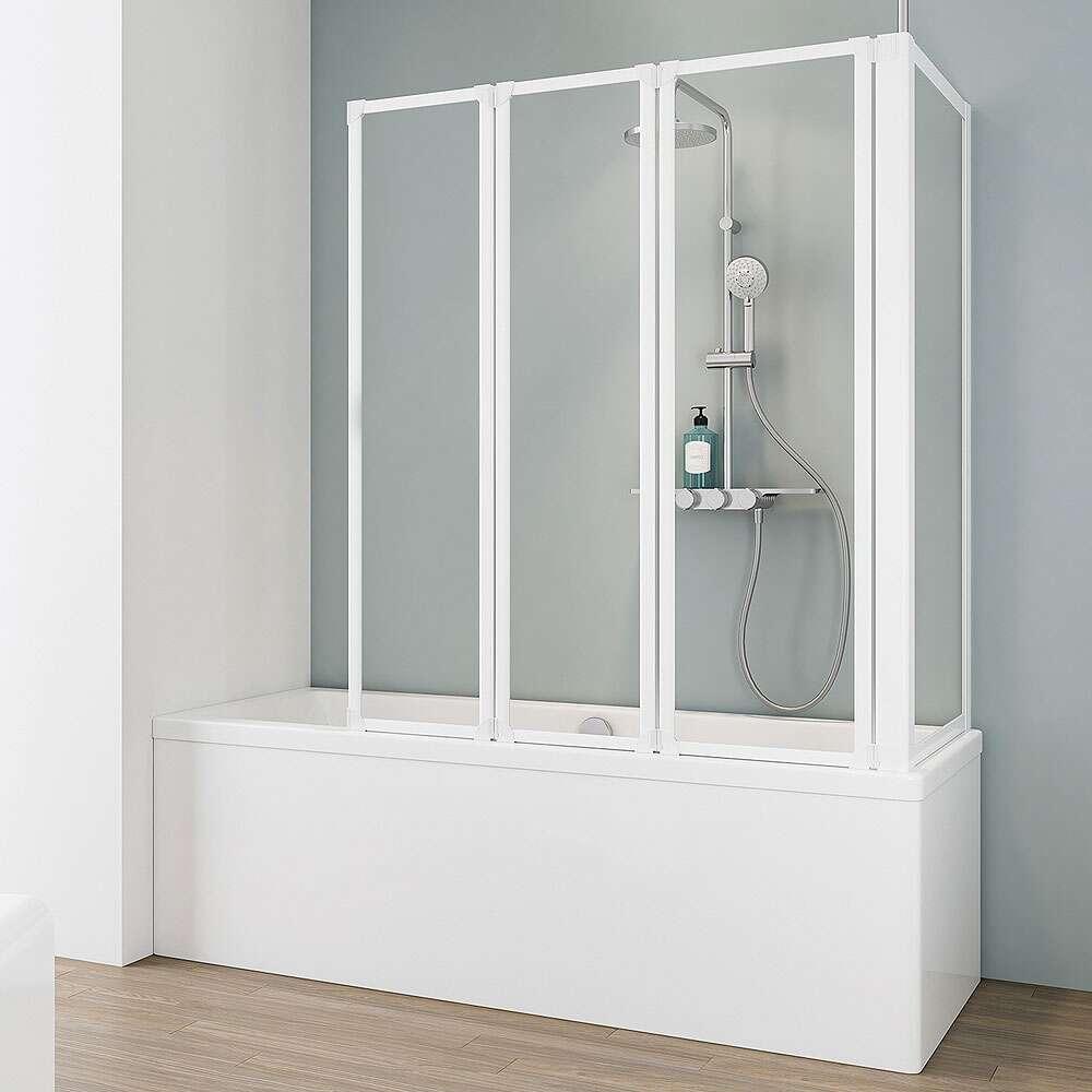 schulte komfort i badewannenaufsatz mit seitenwand 3 teilig. Black Bedroom Furniture Sets. Home Design Ideas