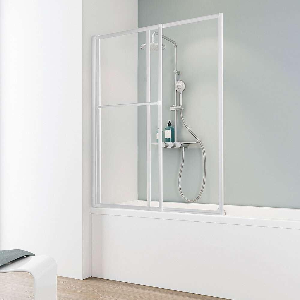 Schulte komfort ii wannenaufsatz auszieh und schwenkbar - Badewanne mit duschwand ...