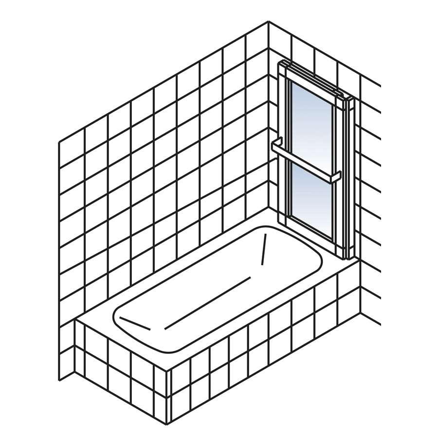 schulte komfort ii wannenaufsatz auszieh und schwenkbar d1130. Black Bedroom Furniture Sets. Home Design Ideas