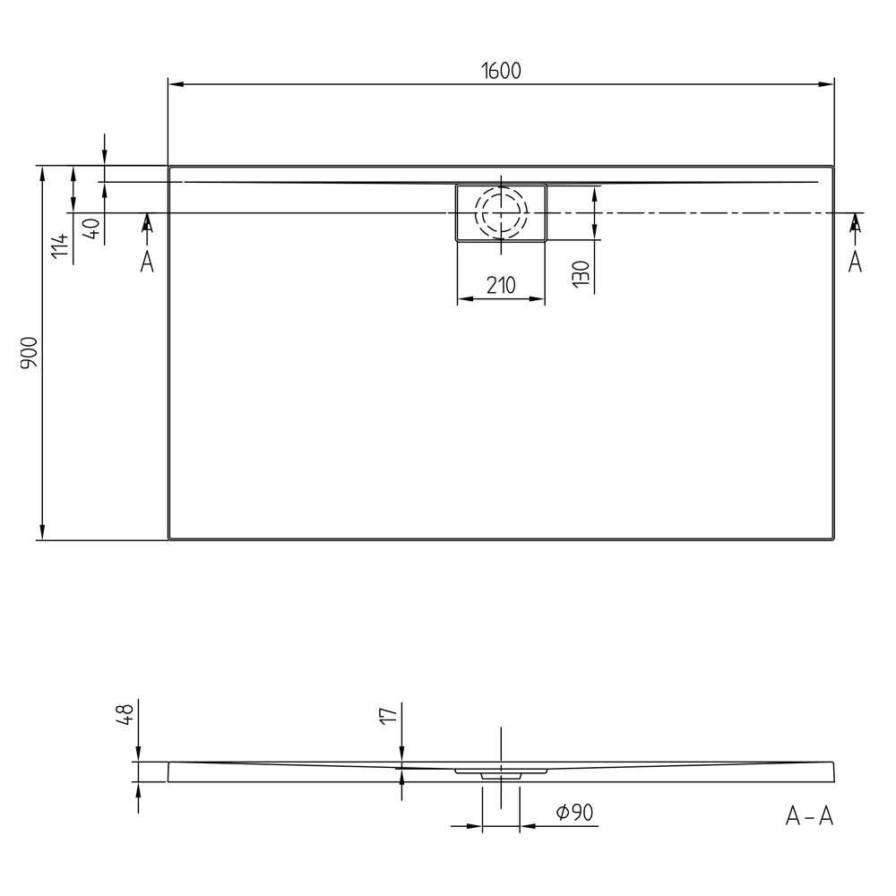 Villeroy & Boch Architectura MetalRim Duschwanne 8339049 ...
