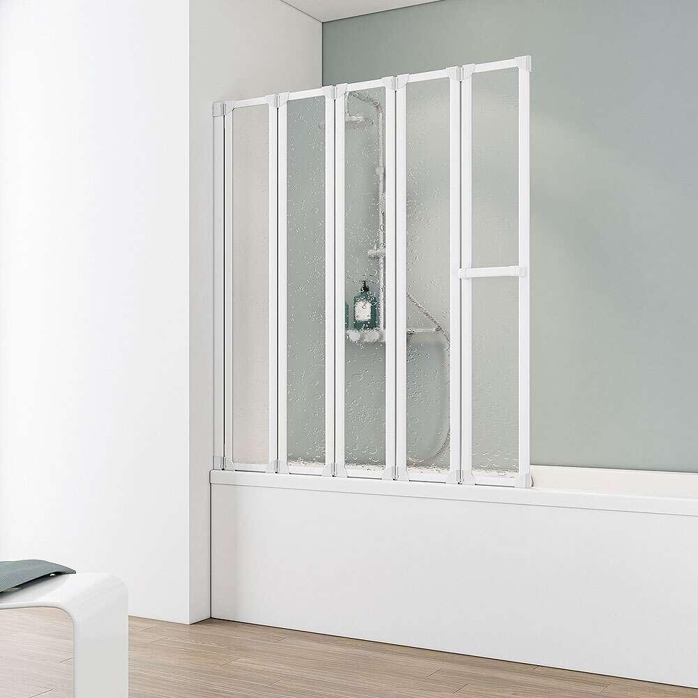 Schulte komfort v badewannenaufsatz 5 teilig d1315 - Duschwand ohne bohren ...