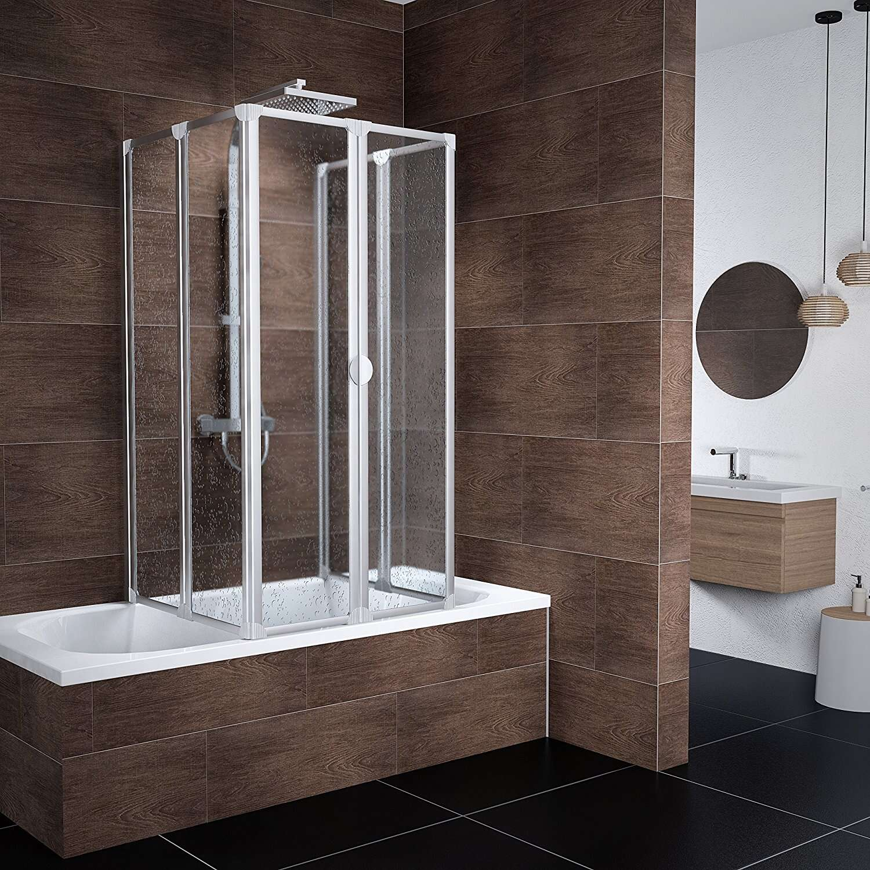 schulte badewannenfaltwand m nchen alunatur 2x3 teilig 2x140x104 cm d1700 0101. Black Bedroom Furniture Sets. Home Design Ideas