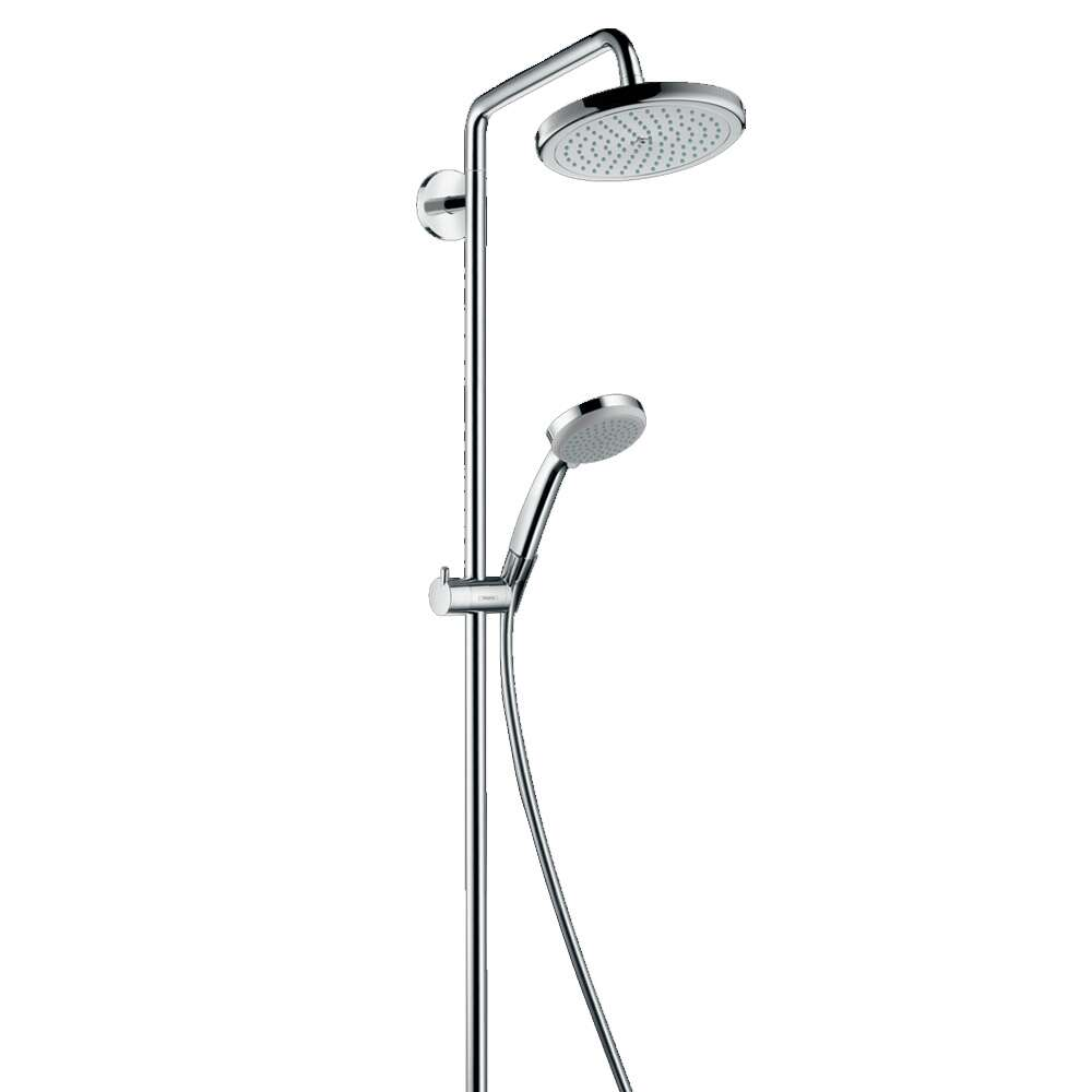 hansgrohe showerpipe croma 220 air 1jet chrom 8307424. Black Bedroom Furniture Sets. Home Design Ideas