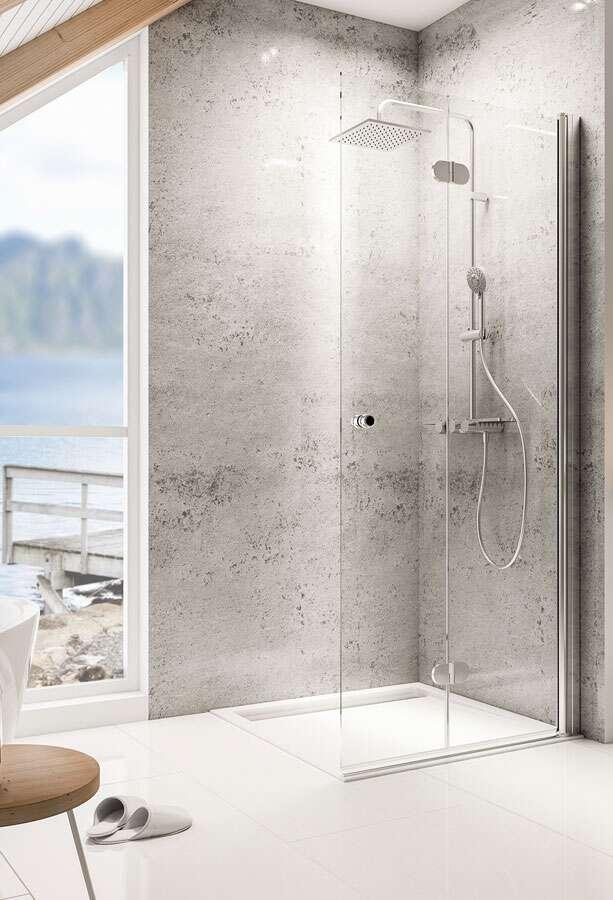 schulte garant duschwand walk in drehfaltt r. Black Bedroom Furniture Sets. Home Design Ideas