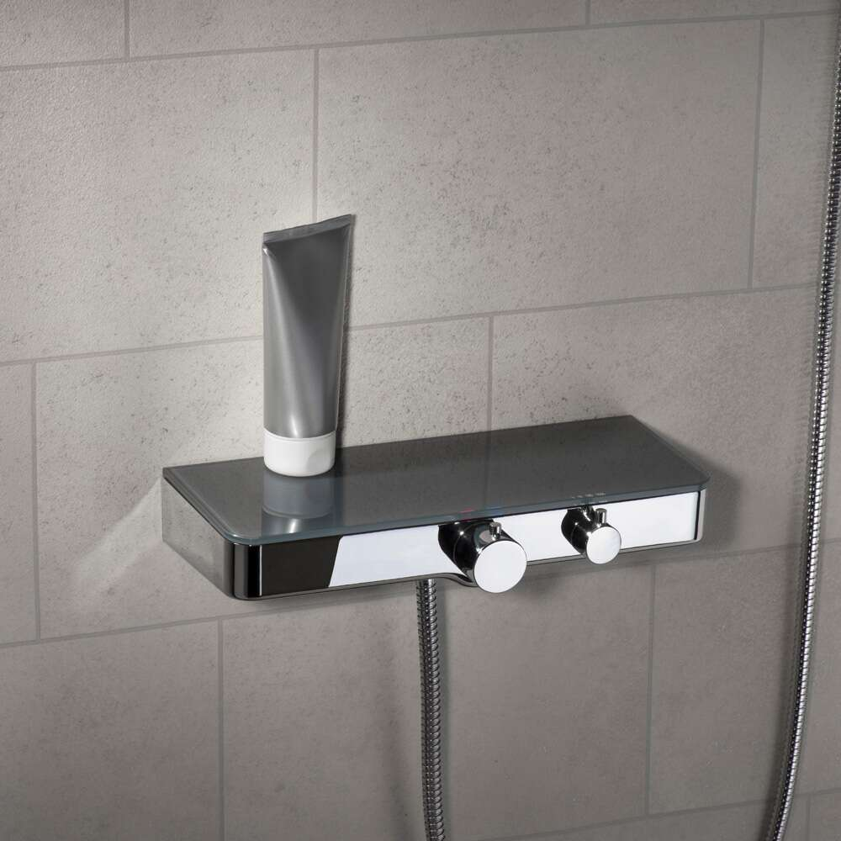 Gut gemocht Schütte Thermostat-Duscharmatur Ocean mit Glasablage in anthrazit YG21