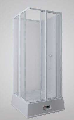Verschenke duschkabine mit boiler und pumpe