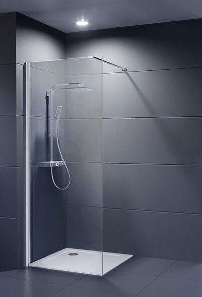 DuCD Dusar Glass 8 Evolution Vario Duschwand Walk-In 80-120 Nano Clean