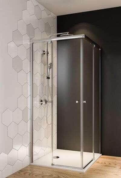 breuer duschkabine fara 6 eckeinstieg mit schiebet ren. Black Bedroom Furniture Sets. Home Design Ideas
