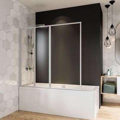 breuer fara badewannenfaltwand 3 teilig komfort. Black Bedroom Furniture Sets. Home Design Ideas