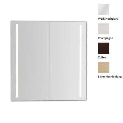 scanbad spiegelschrank delta led leuchten seitlich 60 cm spiegelschrank. Black Bedroom Furniture Sets. Home Design Ideas