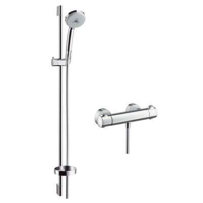 hansgrohe duscharmatur set croma 100 multi mit thermostat 27085 8235091. Black Bedroom Furniture Sets. Home Design Ideas