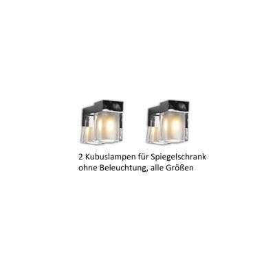 Scanbad Lampen für Spiegelschrank Delta optionale Beleuchtung