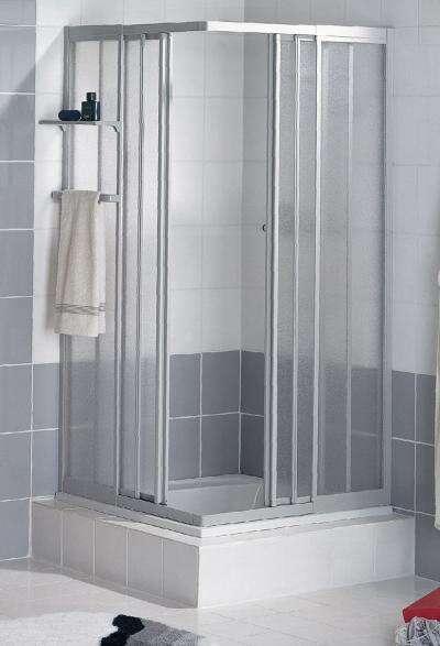 schulte duschkabine sunny eckeinstieg 3 teilig alunatur. Black Bedroom Furniture Sets. Home Design Ideas