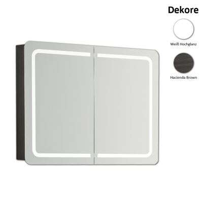 scanbad samba spiegelschrank mit led beleuchtung 80 cm spiegelschrank. Black Bedroom Furniture Sets. Home Design Ideas