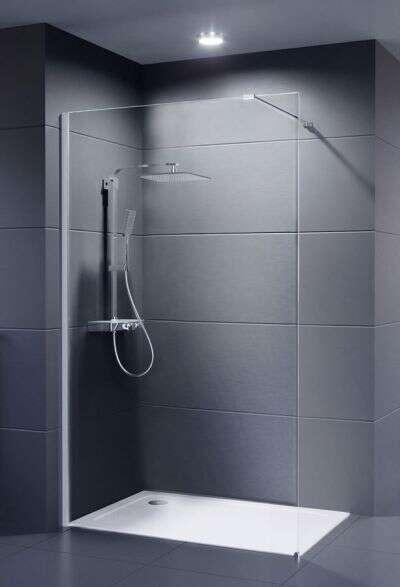 Dusche Eckeinstieg 75X90 : Neo 8 mm Duschwand Duschabtrennung Duschkabine Dusche ab ? 199,00