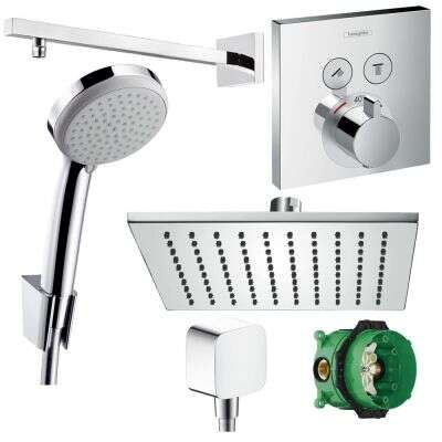 Hansgrohe hansgrohe Duscharmatur-Set Unterputz Thermostat Select 300 Ibox Set