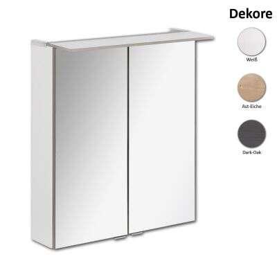 Fackelmann Spiegelschrank Beleuchtung | Fackelmann Spiegelschrank B Perfekt 60 Cm Spiegelschrank