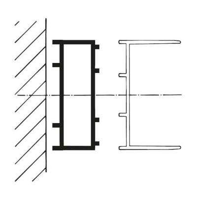 garant stapelprofil wei d8040. Black Bedroom Furniture Sets. Home Design Ideas