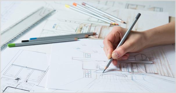Oft helfen Skizzen und Grundrisse bei der Badplanung.
