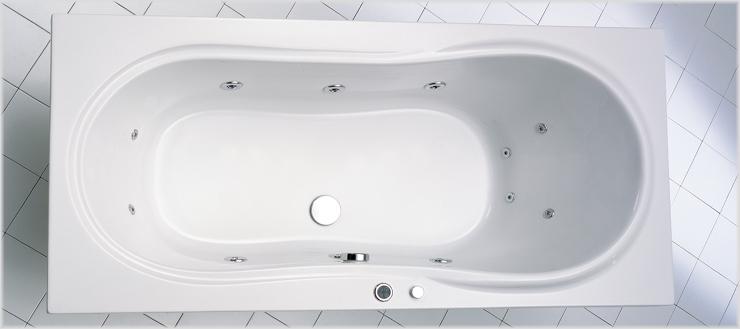 Whirlpoolsystem Typ 2 Luxus in Badewanne Palma.