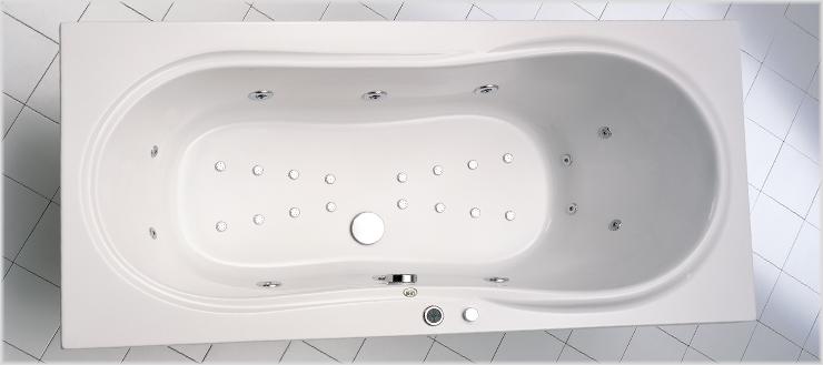Whirlpoolsystem Typ 4 Luxus in Badewanne Palma.