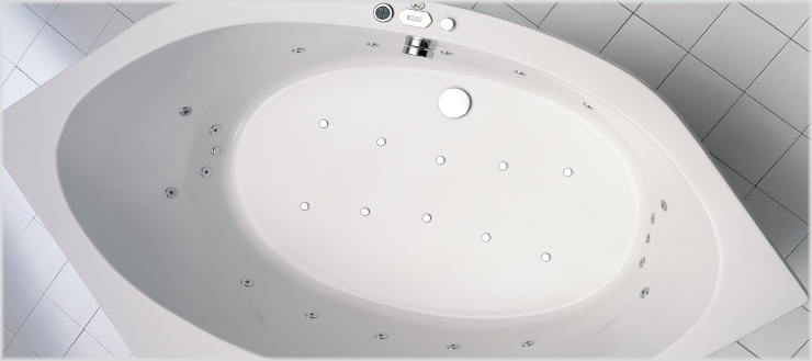 Whirlpoolsystem Typ 4 Micro in Badewanne Canary.