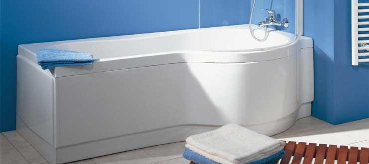 Neben Ottofond, Villeroy&Boch oder Galatea setzt auch Schulte verstärkt auf den Werkstoff Sanitäracryl. Hier gelangen Sie zur Badewannenkombination.
