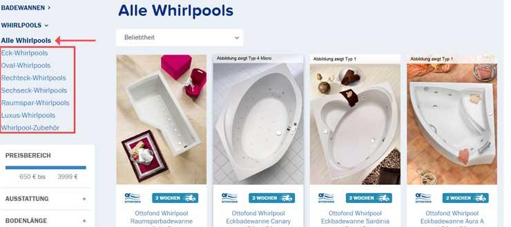 Filterungsoptionen_Whirlpools