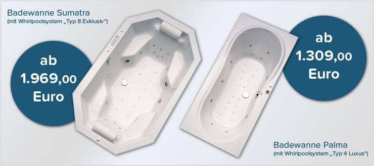 Zwei Duschmeister Whirlpool Systeme