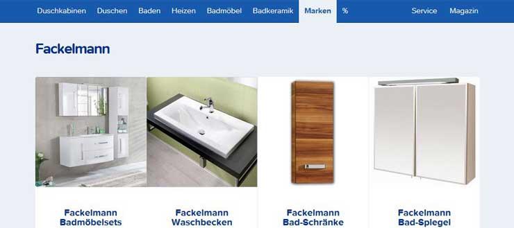 Fackelmann Badmöbel - Shop bei Duschmeister