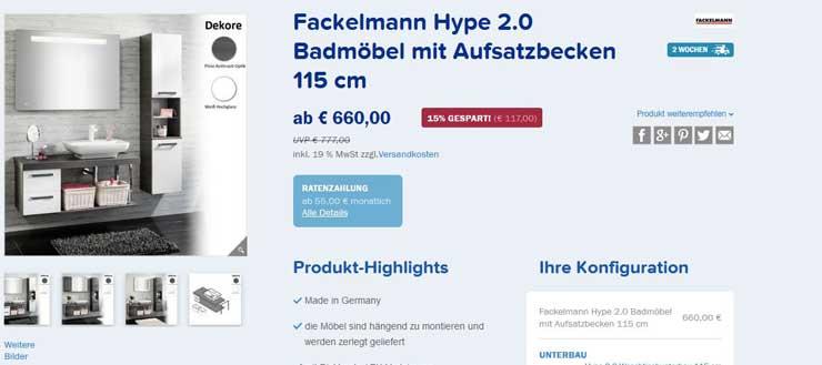 Hype_2.0 aus der Fackelmann Badmöbel Serie