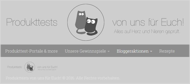 Unser Partner für die Bloggeraktion: Besuchen Sie www.produkt-tests.com