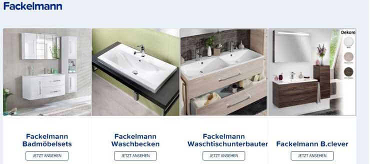 Das Fackelmann Angebot bei Duschmeister.de auf einen Blick.