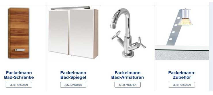 Sie bekommen bei Duschmeister.de auch Fackelmann Schränke und Zubehör.