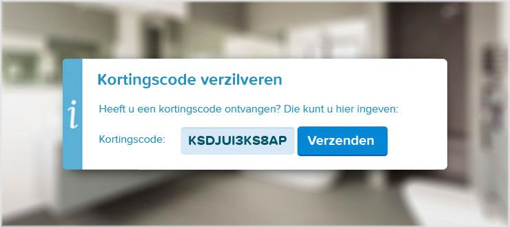 U kunt eenvoudig de kortingscode KSDJUI3KS8AP ingeven bij uw bestelling.