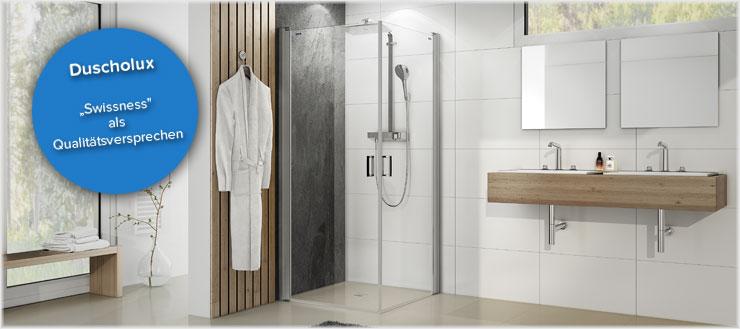 Verwandeln Sie Ihr Bad in eine Wohlfühloase mit Produkten vom Markenhersteller Duscholux.