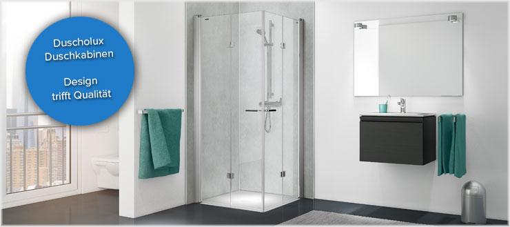 Duscholux legt in der Duschkabinenproduktion auch auf kleinste Details stets viel Wert.