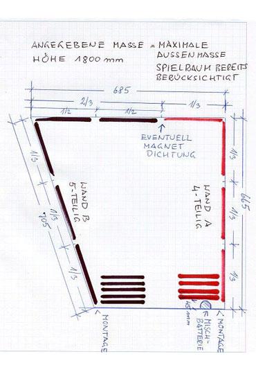 Diese Skizze zeigt die Ausgangssituation im Wohnmobil von Herrn Englstorfer.