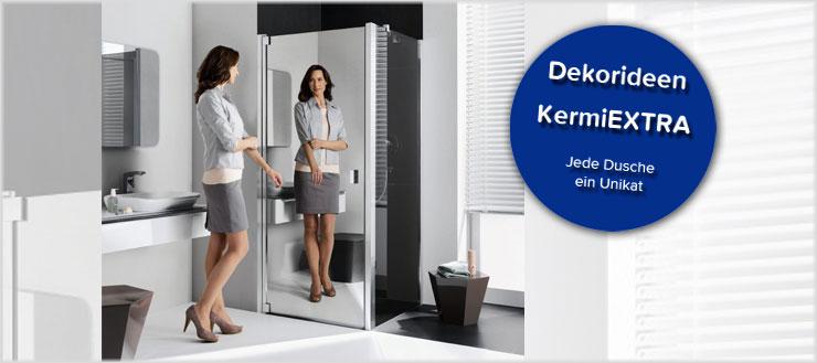 Mit KermiEXTRA gestalten Sie Ihre Duschkabine ganz nach Ihrem Geschmack.